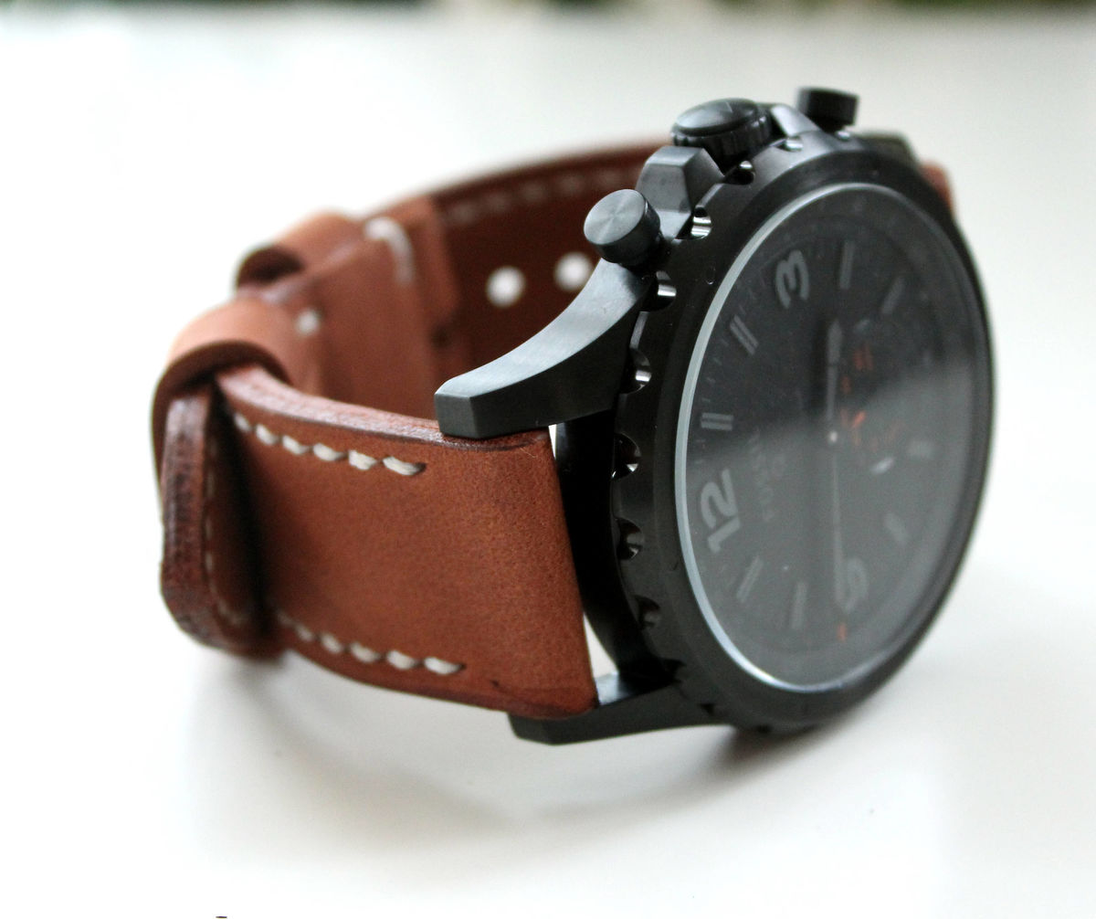 Genuine leather watch strap Brown - product images  of