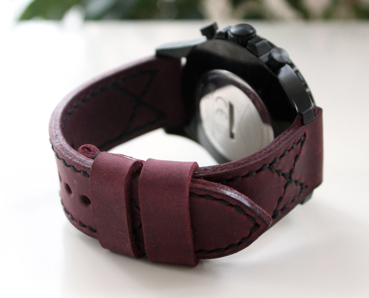 Leather watch band Purple - product images  of