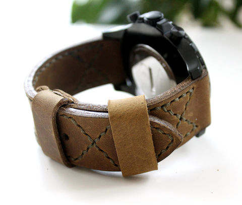 Leather,watch,band,Ligth,Olive,handmade leather watch strap ligth olive,  eather watch strap ligth olive, watch strap ligth olive, watch strap, leather watch band ligth olive