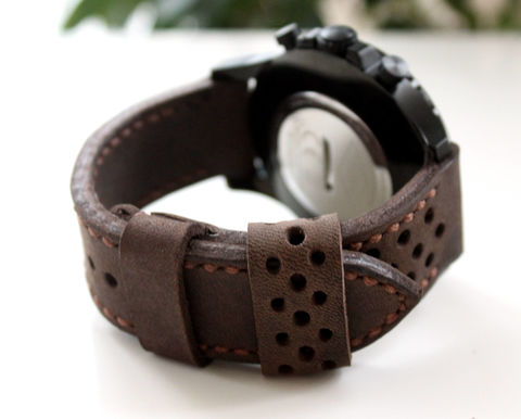 Leather,watch,strap,Coffee,perforated,leather coffee leather watch strap,coffee leather watch strap, leather watch strap, watch strap, coffee brown leather watch strap, leather watch band perforated