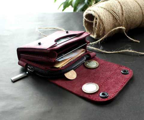 Small,leather,wallet,purple,handmade purple leather wallet, purple leather wallet, leather wallet, small leather wallet, Free personalization, personalized gift