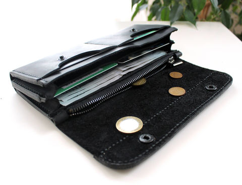 Large,leather,women's,wallet,black,black large leather wallet, large leather wallet, leather wallet, large leather women's wallet, long women wallet, Free personalization, personalized gift