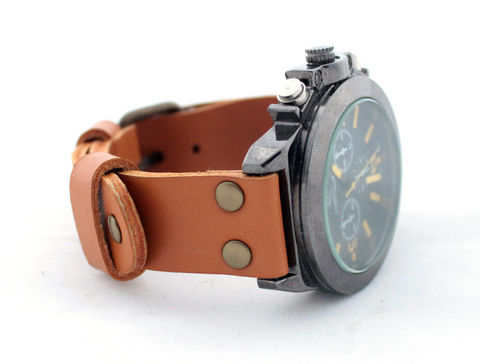 Leather,watch,band,one-piece,handmade mens leather watch strap, mens leather watch strap, watch strap one-piece, leather watch strap, watch strap, leather watch band one-piece, mens leather bracelet watch