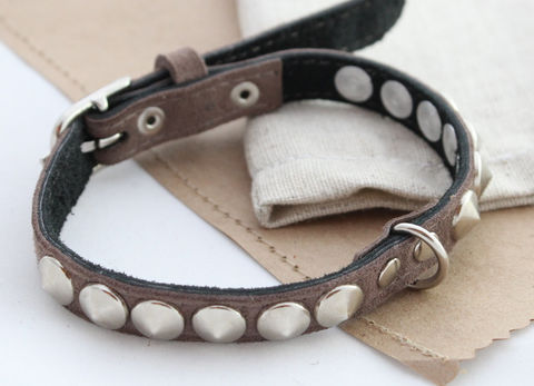 Leather,dog,collars,blue,&,beige,handmade leather dog collars, leather dog collars, dog collars