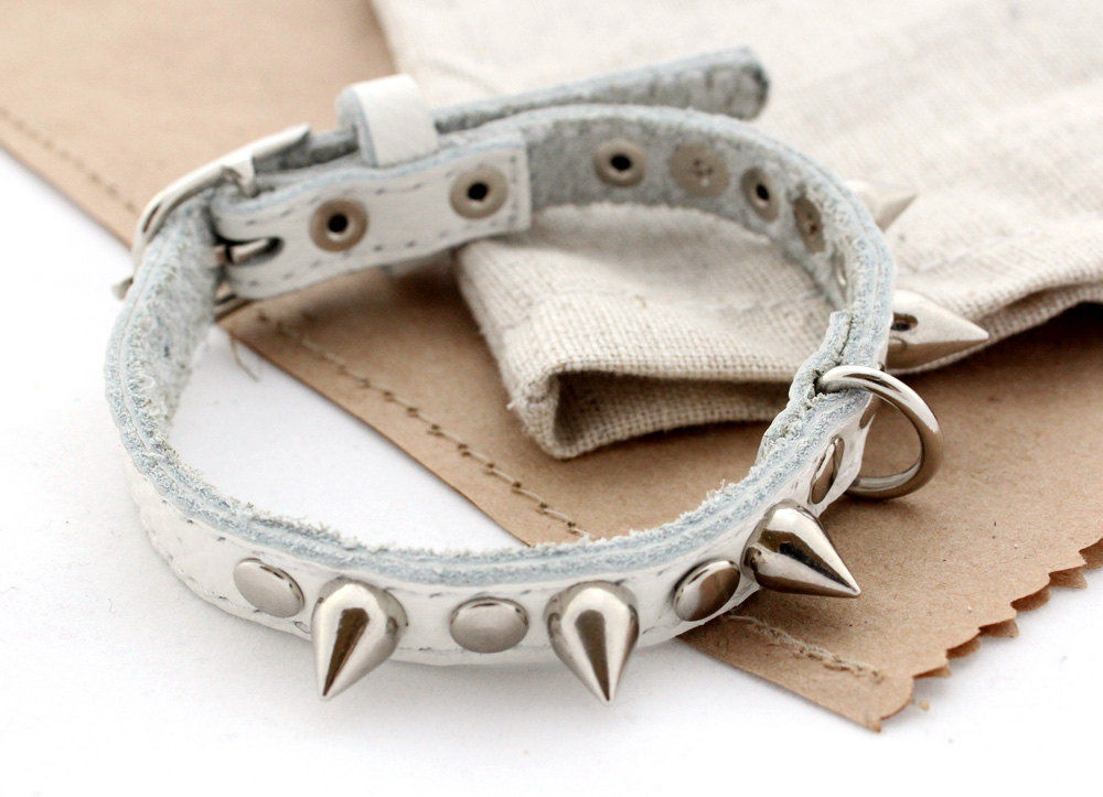 Studded leather dog collars - product images  of