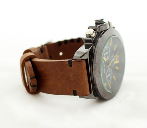 Leather,watch,strap,Brown,handmade brown leather watch band, brown leather watch band, leather watch band, watch band, leather watch strap brown