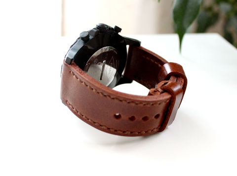 Genuine,leather,watch,strap,Cognac,Brown,quality leather watch strap, watch strap, leather watch strap, genuine leather watch strap cognac brown