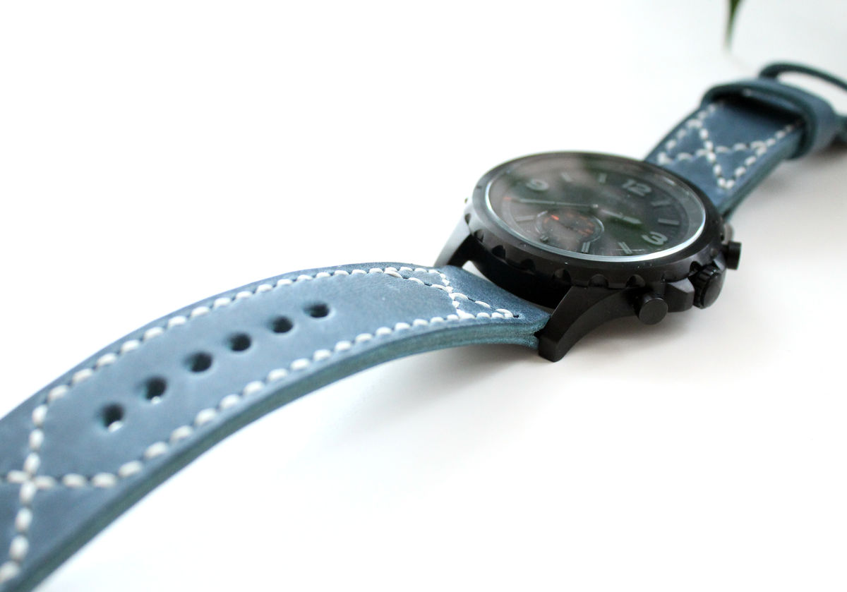 Leather watch band Blue - product images  of
