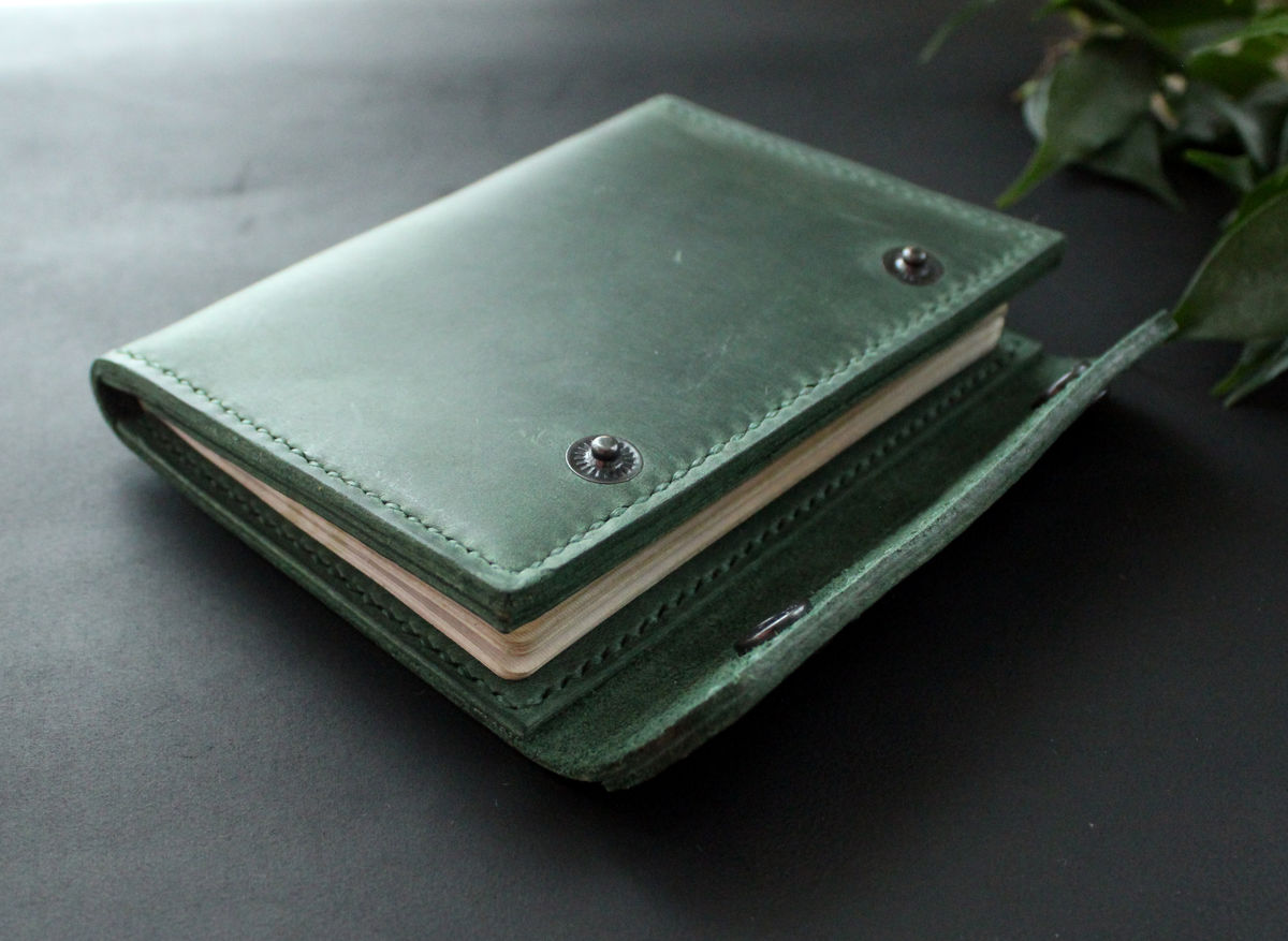 2912c6fc173b ... Leather passport wallet holder green - product images of ...
