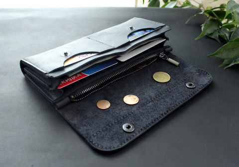 Large,leather,women's,wallet,dark,blue,large leather women's wallets dark blue, leather women's wallets dark blue, women's wallets dark blue, wallets dark blue, long women wallet, Free personalization, personalized gift