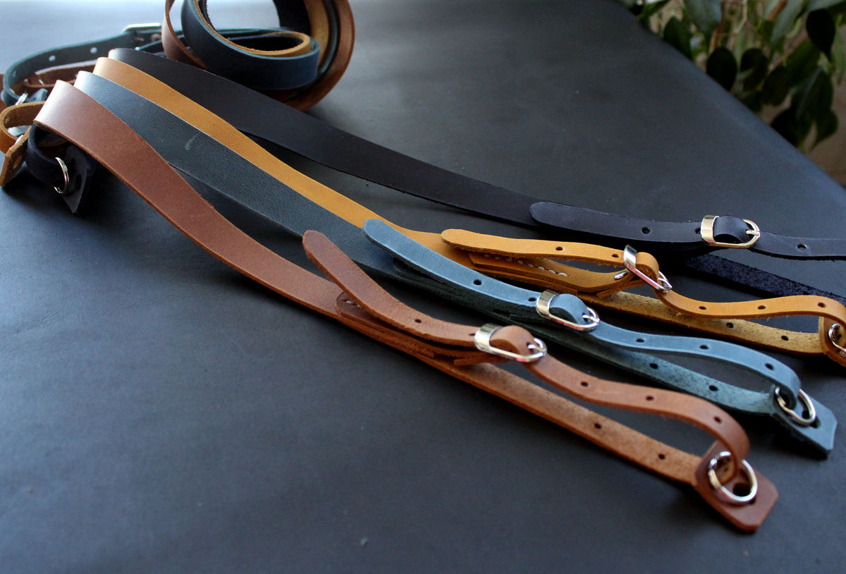 Genuine leather camera strap - product images  of