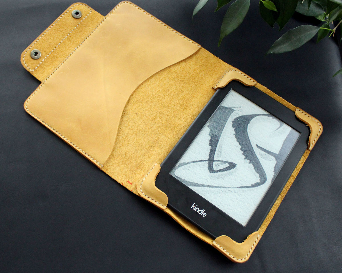 Kindle Paperwhite leather case yellow - product images  of