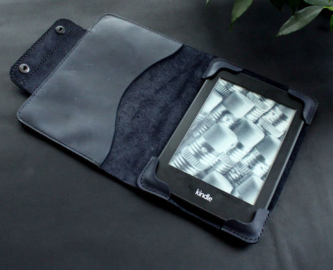 Kindle,Paperwhite,leather,case,dark,blue,Kindle cover, ebook cover, kindle leather case, kindle leather cover, kindle paperwhite, Smart Kindle case, magnet cover, paperwhite cover, leather cover, ereader case, paperwhite leather, paperwhite case, book cover, Free personalization, personalized gi
