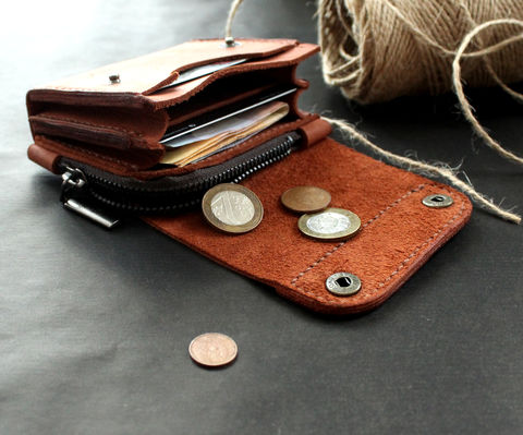 Small,leather,wallet,brick,brown,small brown leather wallets for ladies, Front pocket wallet, brown leather wallets for ladies, leather wallets for ladies, wallets for ladies, small leather wallet, Free personalization, personalized gift