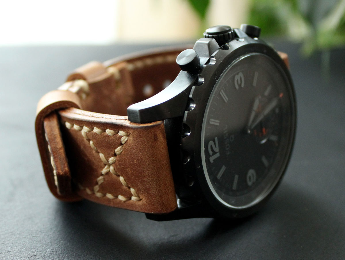 Leather watch band Brown - product images  of