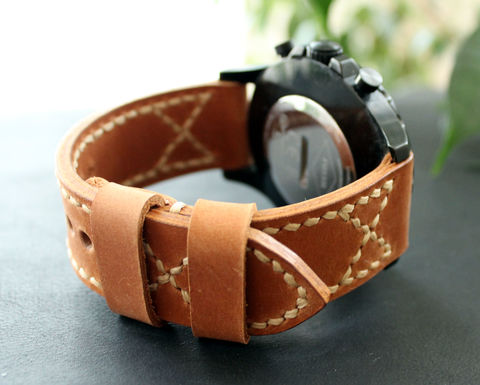 Leather,watch,band,Ligth,Brown,handmade real leather watch strap, real leather watch strap, leather watch strap, watch strap, leather watch band brown