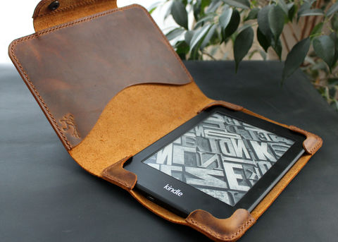 Kindle,Paperwhite,leather,case,rust,brown,Kindle cover, ebook cover, kindle leather case, kindle leather cover, kindle paperwhite, Smart Kindle case, magnet cover, paperwhite cover, leather cover, ereader case, paperwhite leather, paperwhite case, book cover, Free personalization, personalized gi