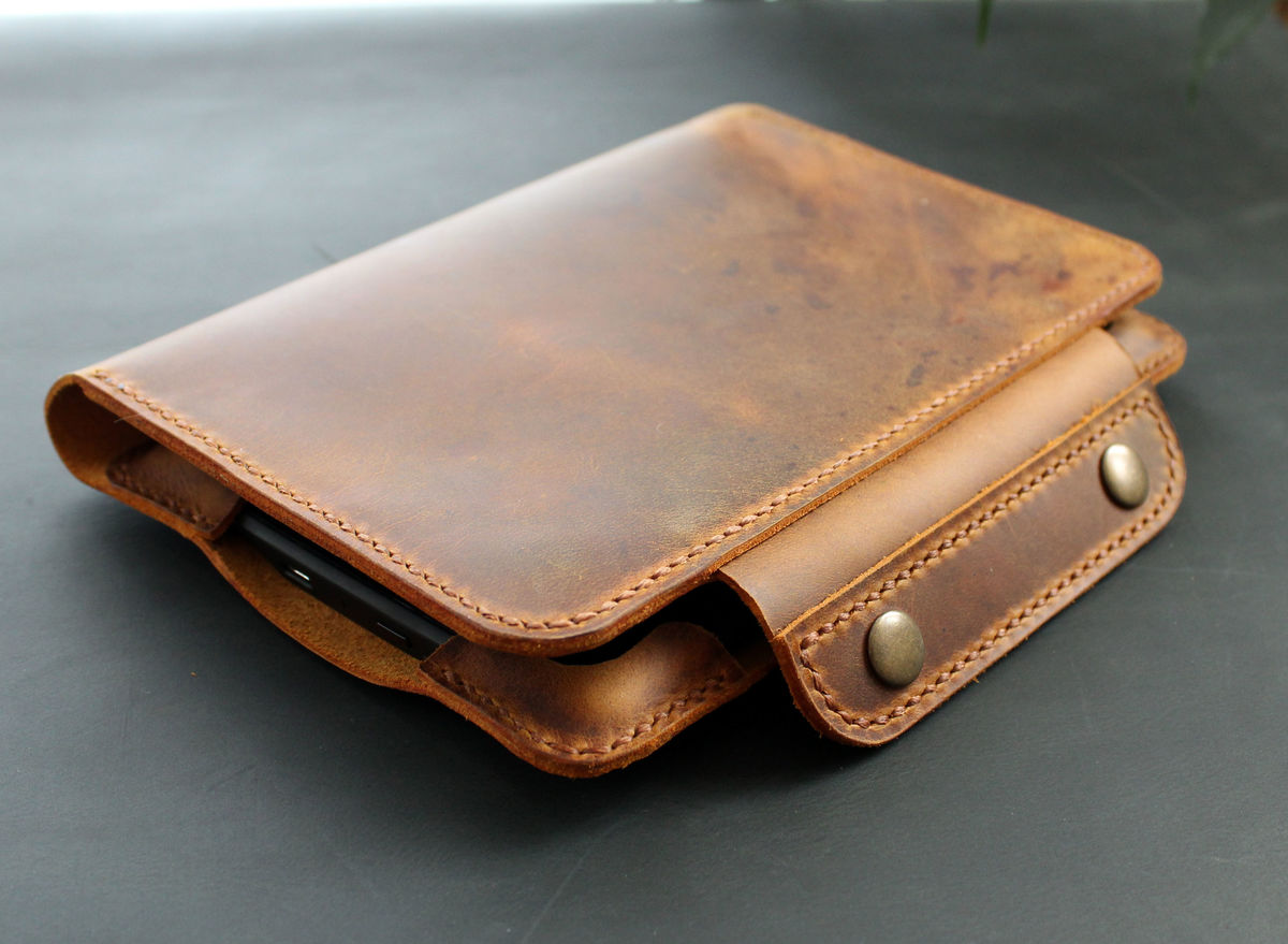 Kindle Paperwhite leather case rust brown - product images  of
