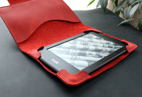 Kindle,Paperwhite,leather,case,Red,Kindle cover, ebook cover, kindle leather case, kindle leather cover, kindle paperwhite, Smart Kindle case, magnet cover, paperwhite cover, leather cover, ereader case, paperwhite leather, paperwhite case, book cover, Free personalization, personalized gi