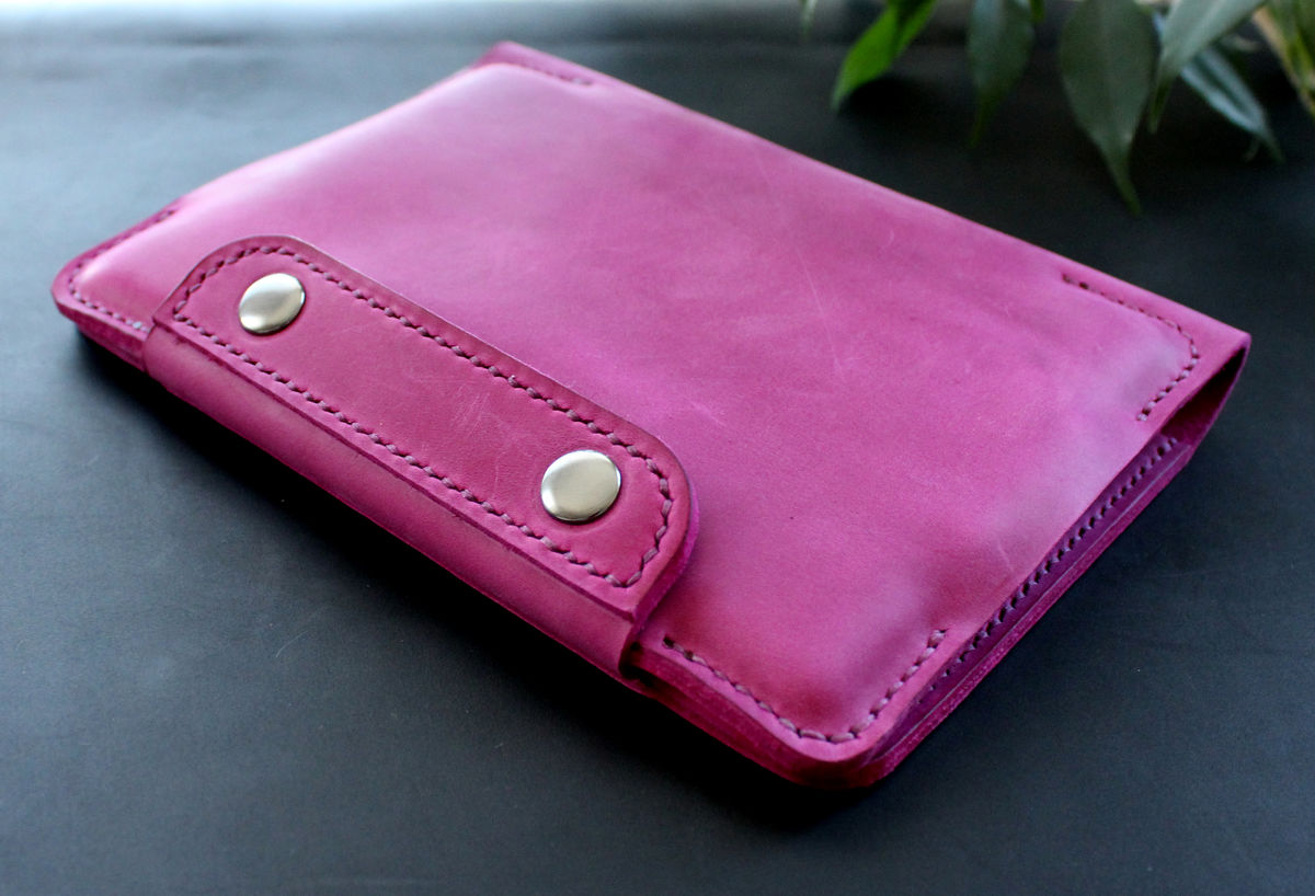 Kindle Paperwhite leather case Fuchsia pink - product images  of