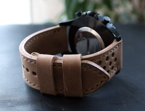 Leather,watch,strap,Sand,perforated,handmade leather wrist watch bands perforated, eather wrist watch bands perforated, watch bands perforated, leather watch band perforated