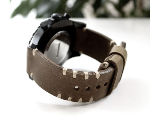Leather,watch,strap,Olive,Handmade leather watch band strap, leather watch strap, watch band strap, watch band, leather watch strap light olive