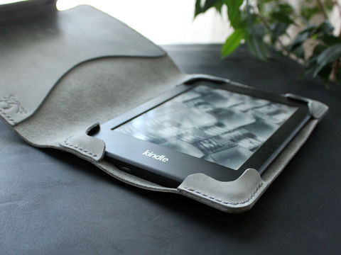 Kindle,Paperwhite,leather,case,Gray,Kindle cover, ebook cover, kindle leather case, kindle leather cover, kindle paperwhite, Smart Kindle case, magnet cover, paperwhite cover, leather cover, ereader case, paperwhite leather, paperwhite case, book cover, Free personalization, personalized gi