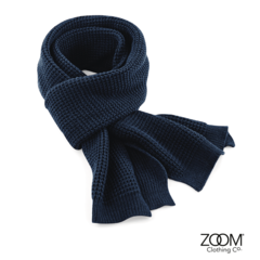 Scarf,Navy,Waffle Scarf, Scarf, Knitted Scarf