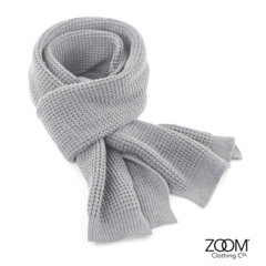 Scarf,Light,Grey,Waffle Scarf, Scarf, Knitted Scarf