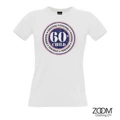 60's,Child,T.shirt,LADIES,60's t. shirt, T. Shirt, T-Shirt, Zoom Tees, Zoom T. Shirts