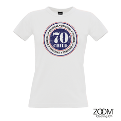 70's,Child,T.Shirt,LADIES,70's t. shirt, T. Shirt, T-Shirt, Zoom Tees, Zoom T. Shirts