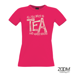 All,you,need,is,tea,T.Shirt,LADIES,All you need is tea t. shirt, T. Shirt, T-Shirt, Zoom Tees, Zoom T. Shirts