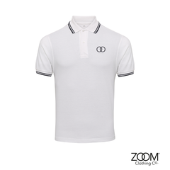 Zoom,Striped,Collar,Polo,(White),Zoom Polo, Zoom Striped Collar Polo, Polo, Striped Polo
