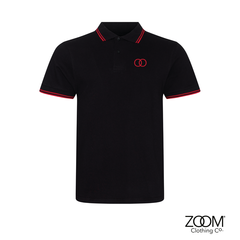 Zoom,Striped,Collar,Polo,(Black),Zoom Polo, Zoom Striped Collar Polo, Polo, Striped Polo