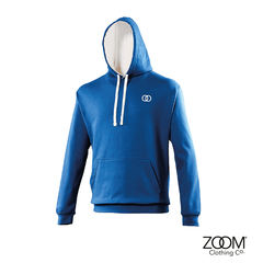 Zoom,Unisex,Contrast,Hoodie,(Royal,Blue/White),Zoom hoodies, Zoom contrast, Zoom contrast hoodie, Hoodie