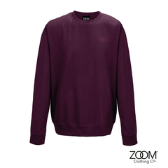 Subtle,OO,Unisex,Sweat,(Burgundy), Sweatshirt, Zoom Sweat, Zoom Sweatshirt, Unisex Sweat, Unisex Sweatshirt, Subtle Sweat