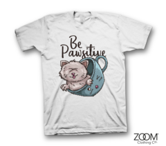 Be,Pawsitive,T.shirt,Be Pawsitive, Be Pawsitive t.shirt, Pixel Retro T.shirt