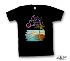 Beautiful,Sunset,T.shirt,Beautiful Sunset, Beautiful Sunset t.shirt, Pixel Retro T.shirt