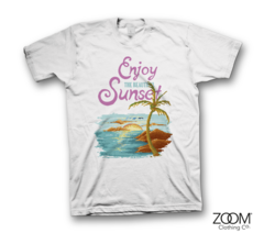 Beautiful,Sunset,Ladies,T.shirt,Beautiful Sunset, Beautiful Sunset t.shirt, Pixel Retro T.shirt