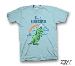 Dinocorn,Ladies,T.shirt, Dinocorn t.shirt, Pixel Retro T.shirt