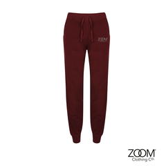 Burgundy,Jog,Bottoms,Ladies,Joggers, Zoom Lounge Wear, Zoom Joggers.
