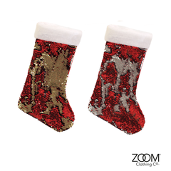 Double,Sided,Sequin,Stockings,Christmas
