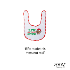 Elfie,Made,This,Mess,Baby,Bib,Christmas