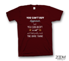 Adopt,a,Cat,T.shirt,Animals, Animal slogans, Animal t.shirts, Animal quotes