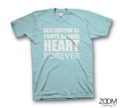 Cats,Leave,Paw,Prints,Ladies,T.shirt,Animals, Animal slogans, Animal t.shirts, Animal quotes