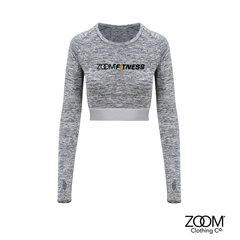 Long,Sleeved,Crop,Top,Zoom Fitness, Fitness, Gym, Zoom Fit
