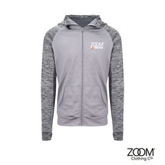 Contrast,Full,Zip,Hoodie,Zoom Fitness, Fitness, Gym, Zoom Fit