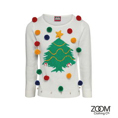Ladies,Christmas,Tree,Jumper,Zoom Christmas, Christmas, Zoom XMas