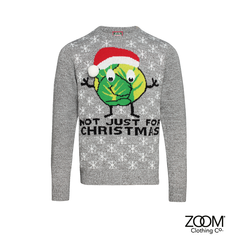 Mens,Christmas,Sprout,Jumper,Zoom Christmas, Christmas, Zoom XMas