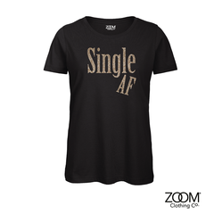 Single,AF,Gold,Glitter,T.Shirts,Zoom Gold Glitter T.Shirts, Zoom, Zoom T. Shirts, Zoom Clothing